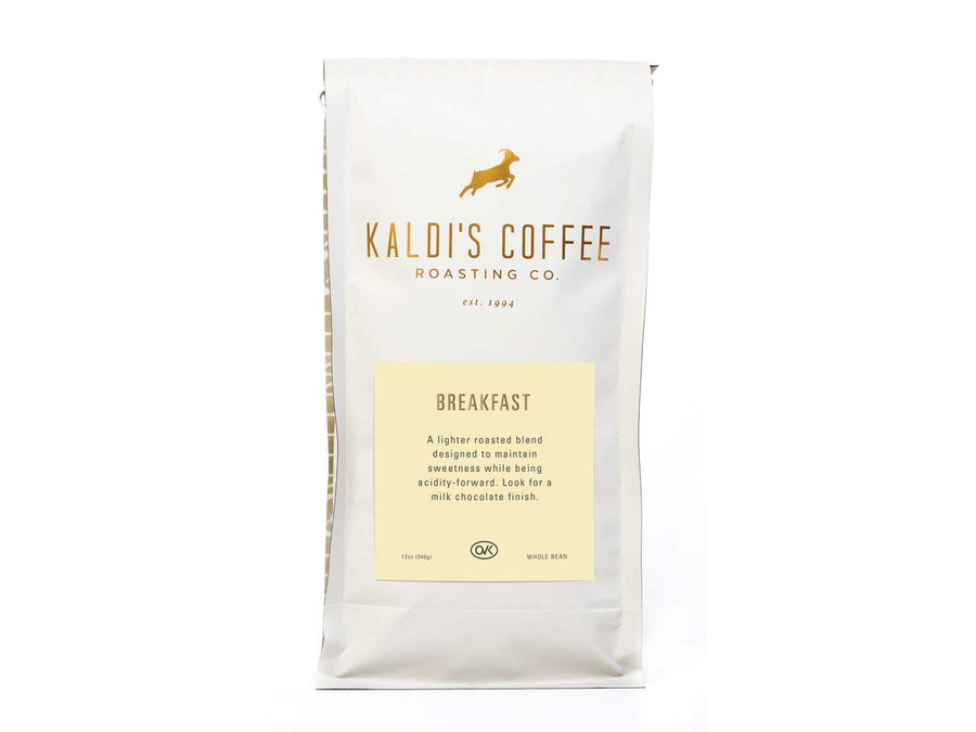 12oz bag of Kaldi's Breakfast Blend