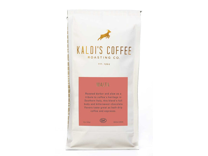 12oz bag of Cafe Malta, for lovers of more developed coffee