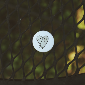 Ghost Heart (White) Pin