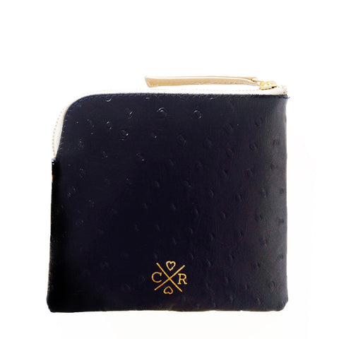 CONNIE Clutch - Black & Bone