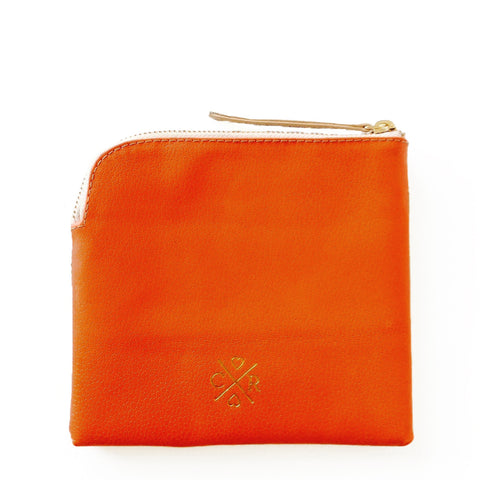 CONNIE Clutch - Tangerine & Bone
