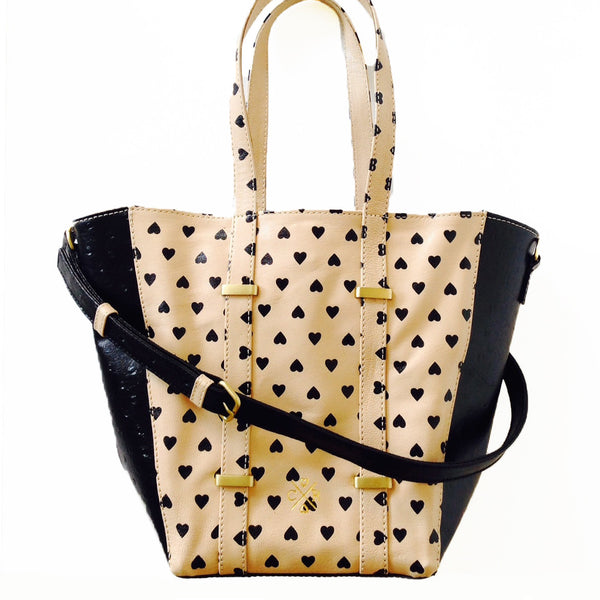 JULIA Tote - Heart & Black