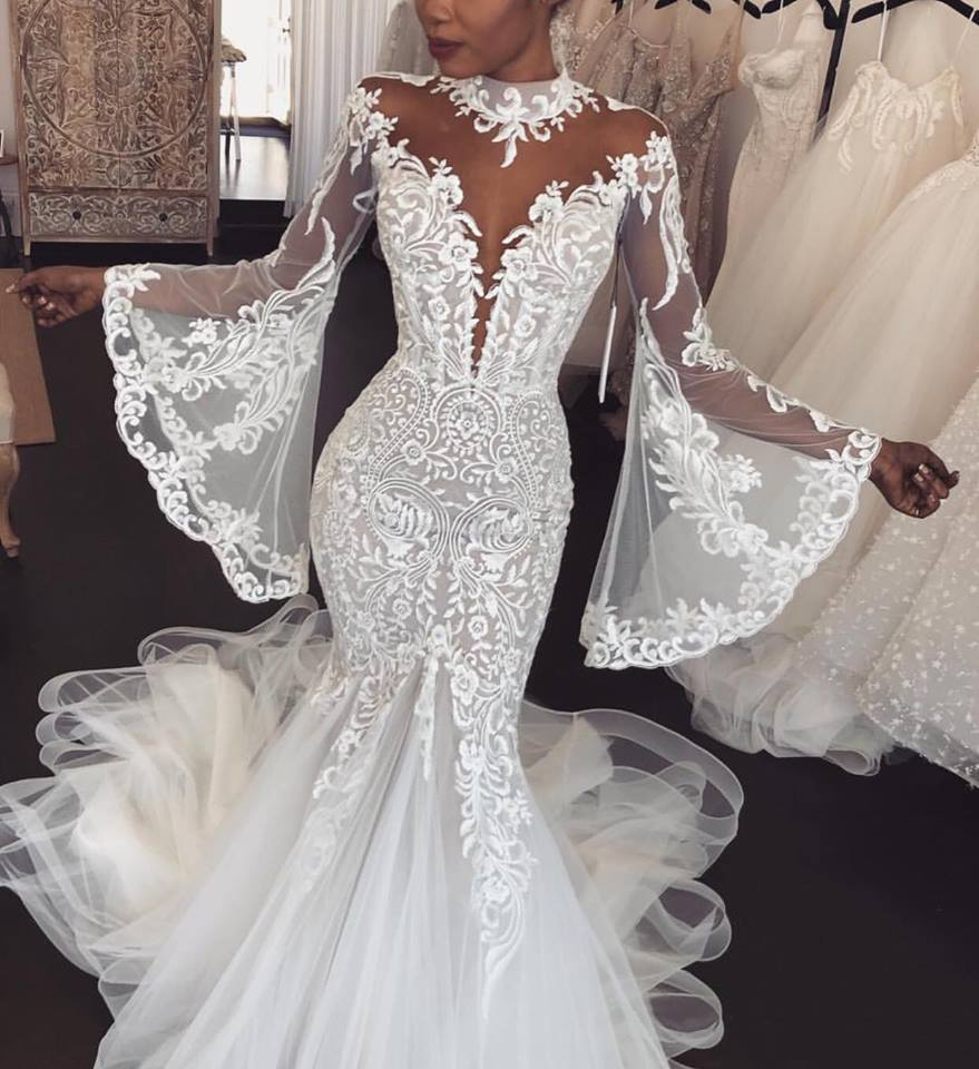 Mermaid Style Wedding Dress.Mermaid Style Wedding Dress
