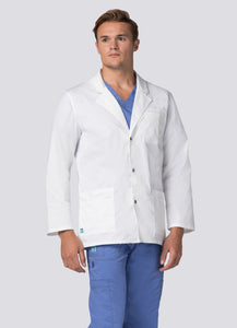 "Mens 31"" Snap Front Lab Coat by Adar XXS-3XL"
