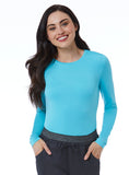 Women's Basic Long Sleeve Underscrub Tee by Maevn-Aquamarine