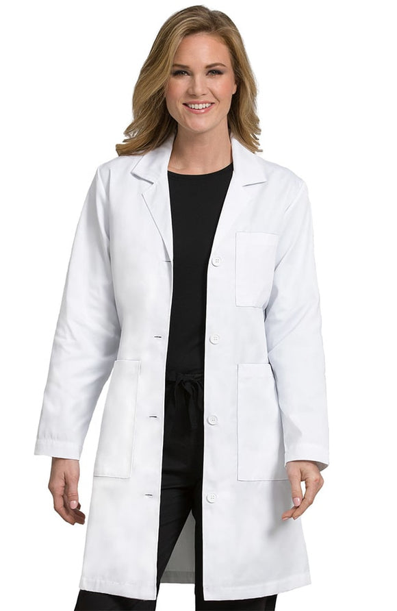 3 Pocket Length Lab Coat by Med Couture XS-3XL