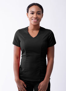 Modern V-Neck Scrub Top by Adar