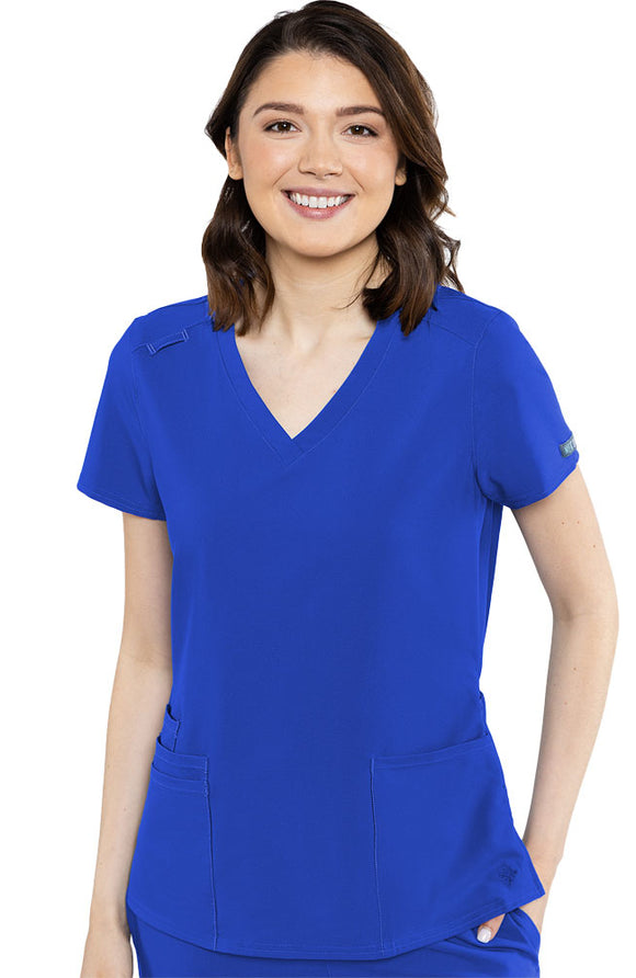 Austin 5 pocket Breathable Scrub Top by Med Couture XS-3XL