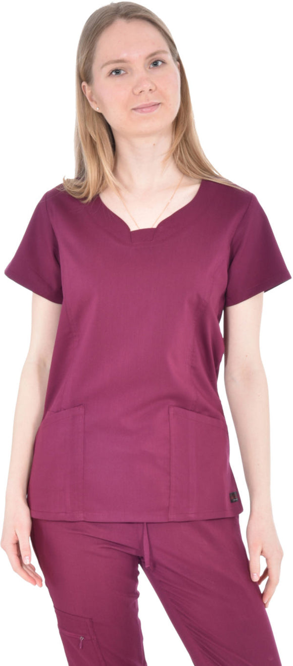 Women's 3 Pocket Round Neck Scrub Top by MediChic XS-3XS