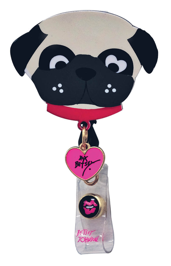 koi Betsey Badge Reel Cute Dog