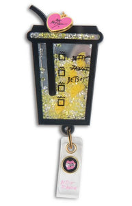 Betsey Badge Reel Cup with Heart