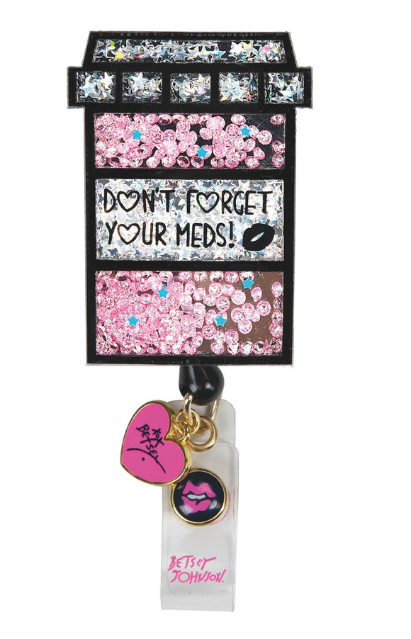 Betsey Badge Reel Pill Box