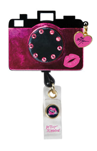 koi Betsey Badge Reel Camera