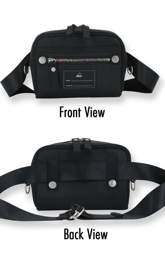 koi Solid Black Belt Bag