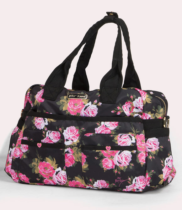 koi Betsey Beautiful Rose Printed Utility Bag