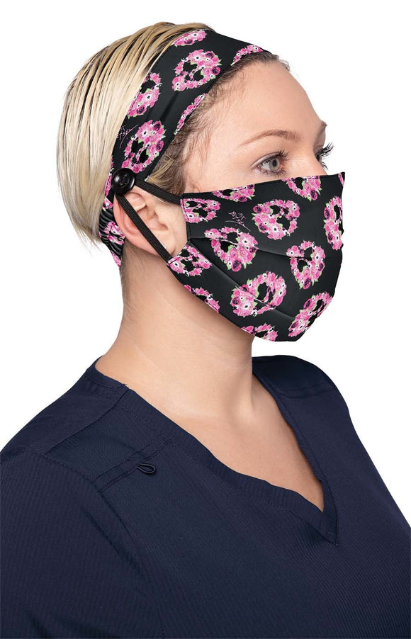 koi Fashion Mask Skull Petal + Headband Set
