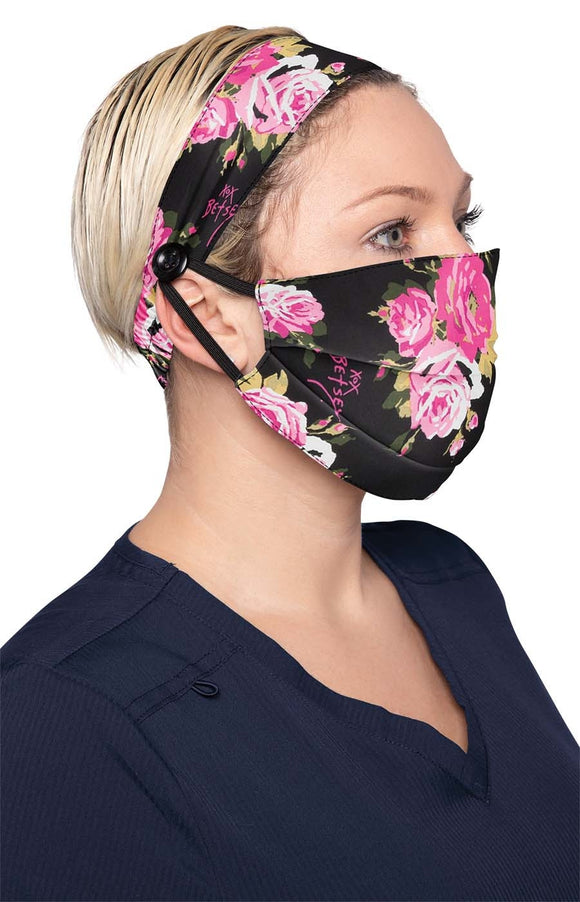 koi Fashion Mask Beautiful Rose + Headband Set