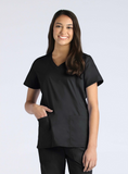 Ladies Functional V-Neck Top by Maevn-Real Navy