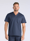 Men's One Chest Pocket V-Neck Top by Maevn
