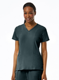 Ladies 3-Panels V-Neck Top by Maevn XXS-3XL