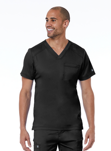 Men's Basic V-Neck Top by Maevn XS-3XL