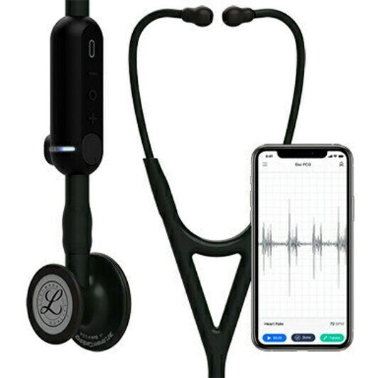 3M™ Littmann® CORE Digital Stethoscope, Black Chestpiece, Tube, Stem and Headset, 27 inch