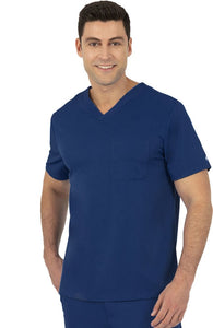 Mason V-Neck Scrub Top by Healing Hands XS-5XL-Navy