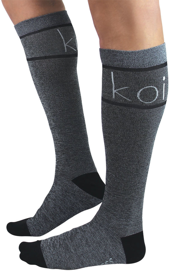 Heather koi Antimicrobial Unisex Compression Socks 1-pack
