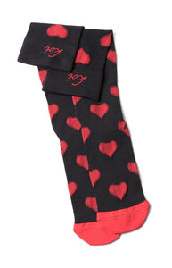 koi Love Valentine-Black/Chili Red Compression Socks 1-pk