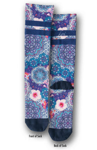 koi Medallions & Butterflies Compression Socks 1-pack