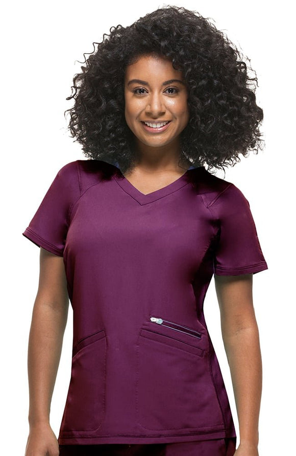 Serena V-Neck Top by Healing Hands XS-3XL/Wine