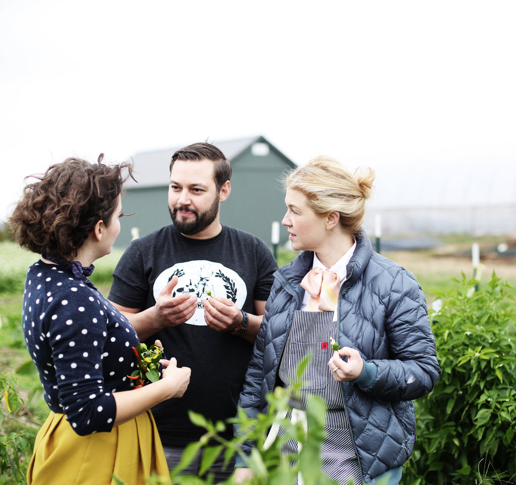 Executive Chef Mike Wajda and Ellen Bennett and Jeni Britton Bauer Woodland Farm