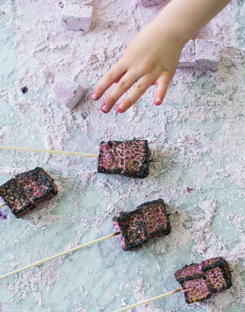 Roasted Rose Water Marshmallows
