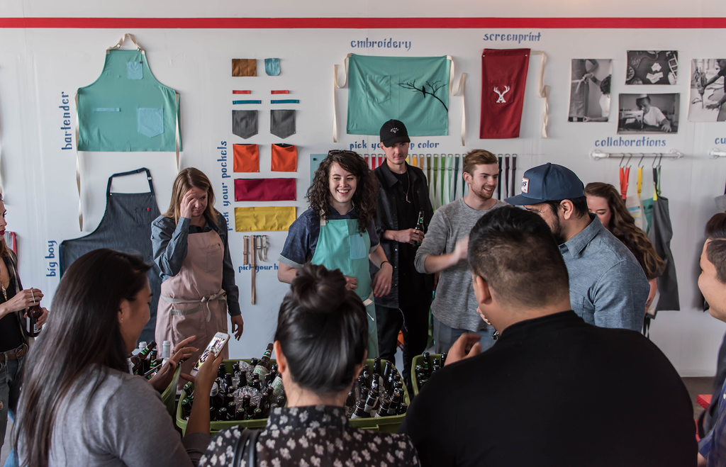 Goose Island Beer Co. Visits Hedley & Bennett Apron HQ for Migration Week