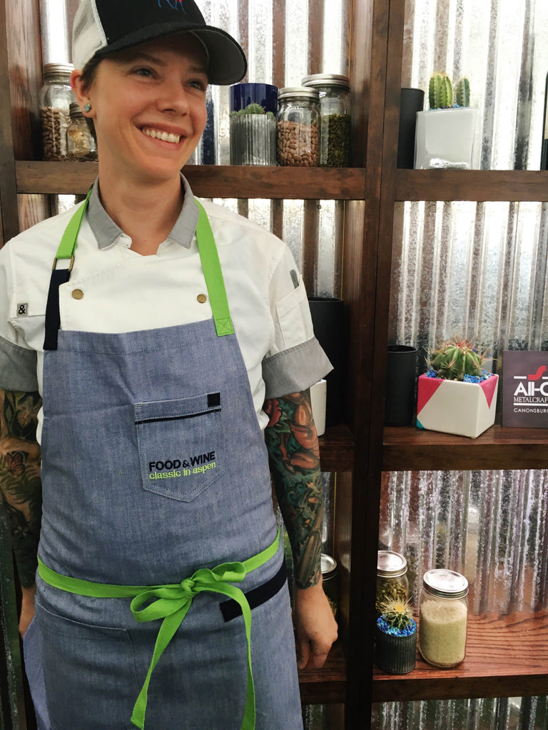 Custom aprons for food and wine classic 2016