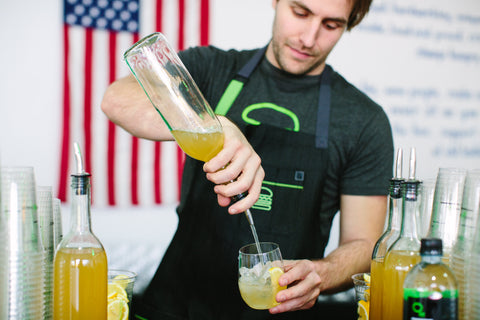 Bourbon Lemonade at Hedley & bennett Apron Factory