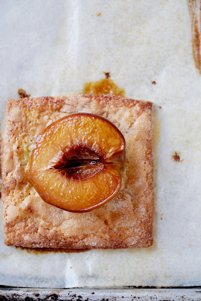Hucklberry Peach Squares