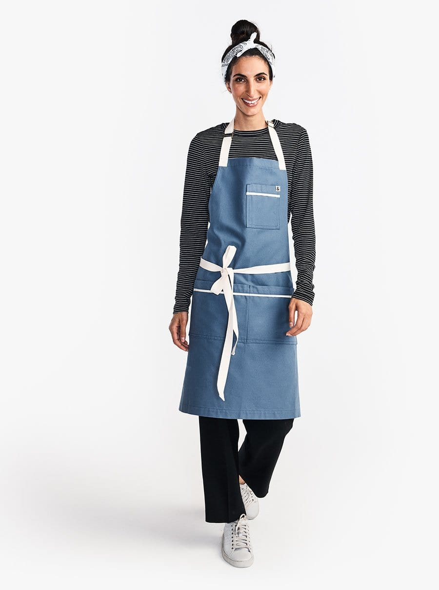 The Carryall Apron - Blue Moss