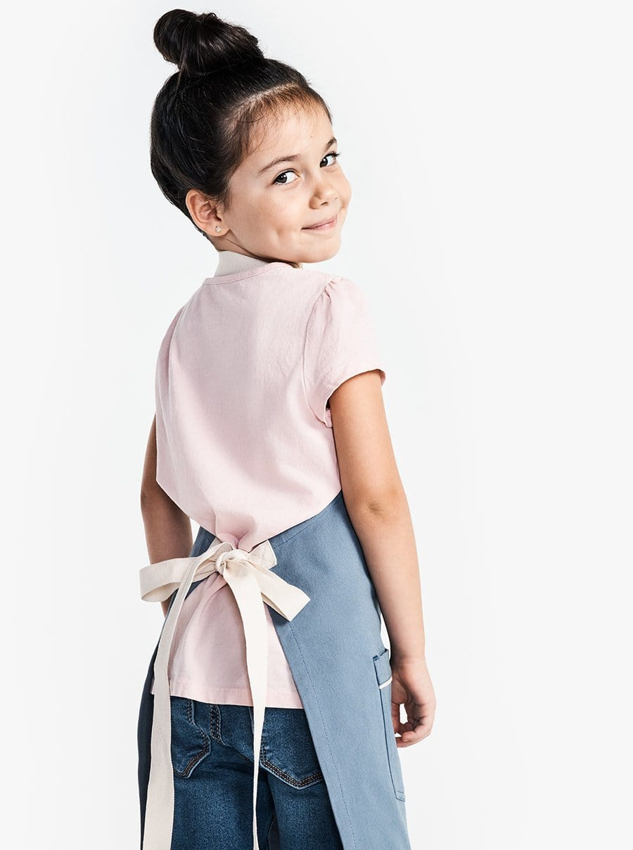 The Kids Apron - Blue Moss