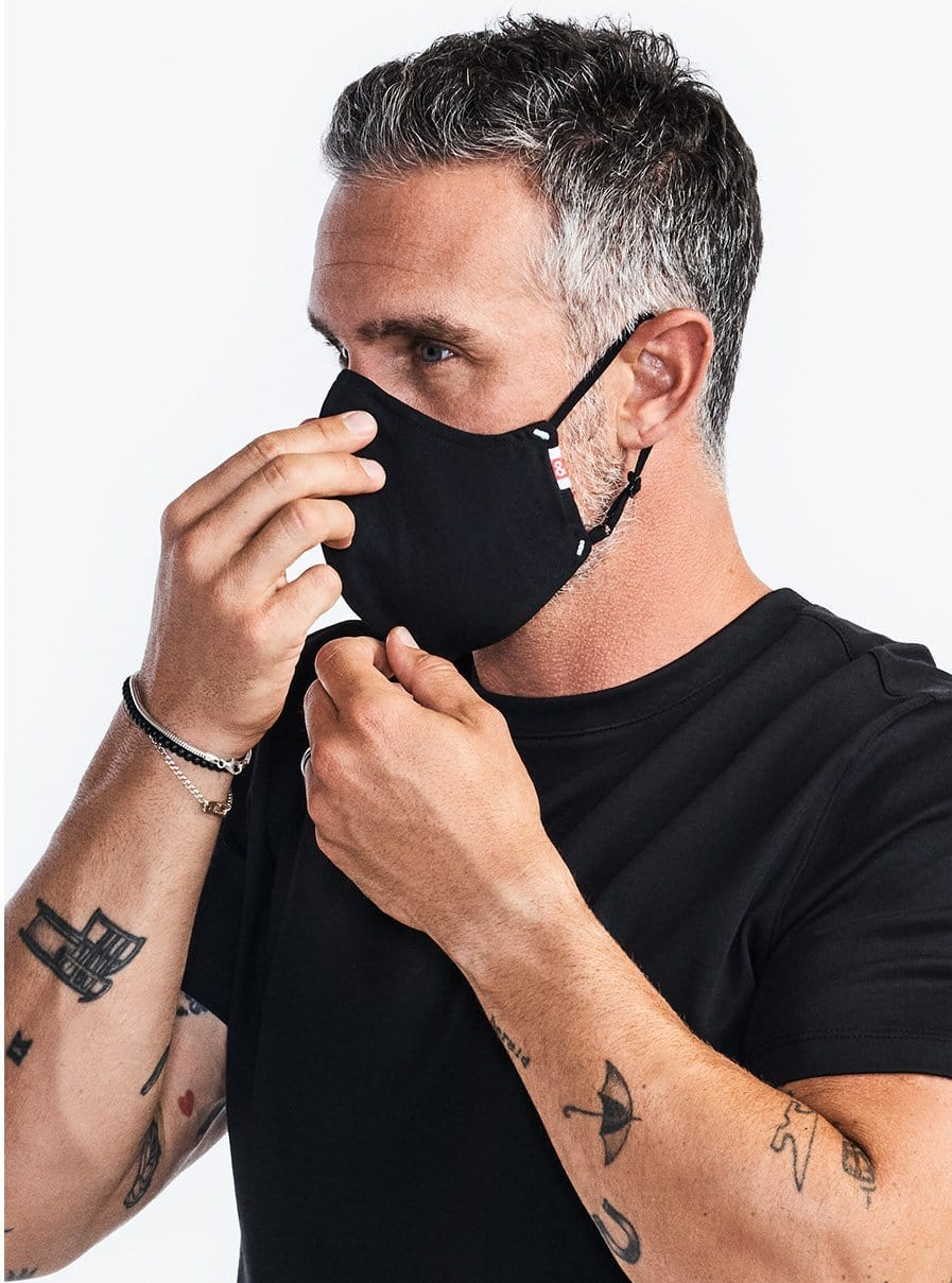 The Wake Up & Fight Mask - Black Oxford