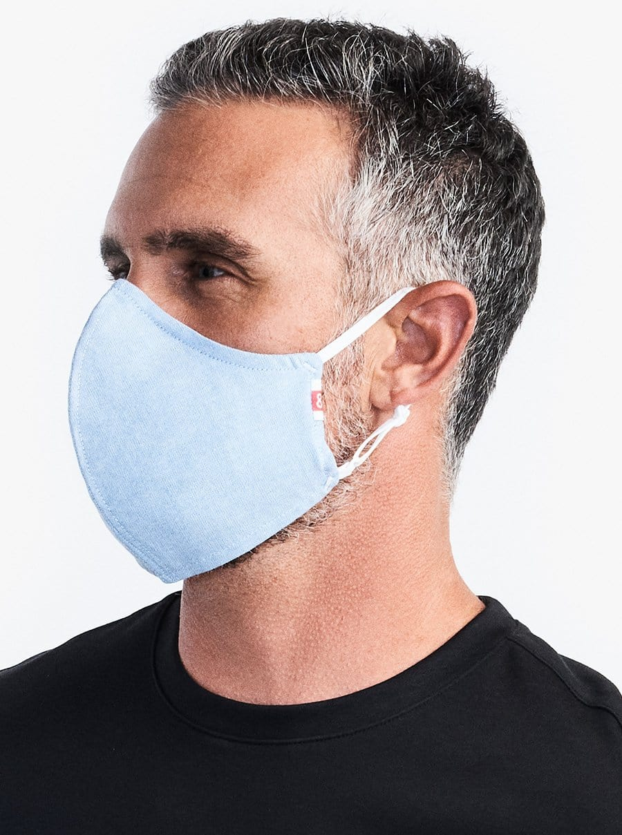 The Wake Up & Fight Mask 3 Pack - Light Blue Oxford