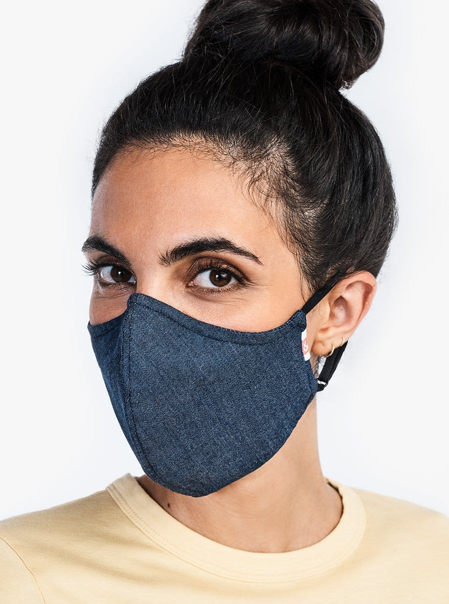 The Wake Up & Fight Mask 20 Pack - Dark Blue Chambray