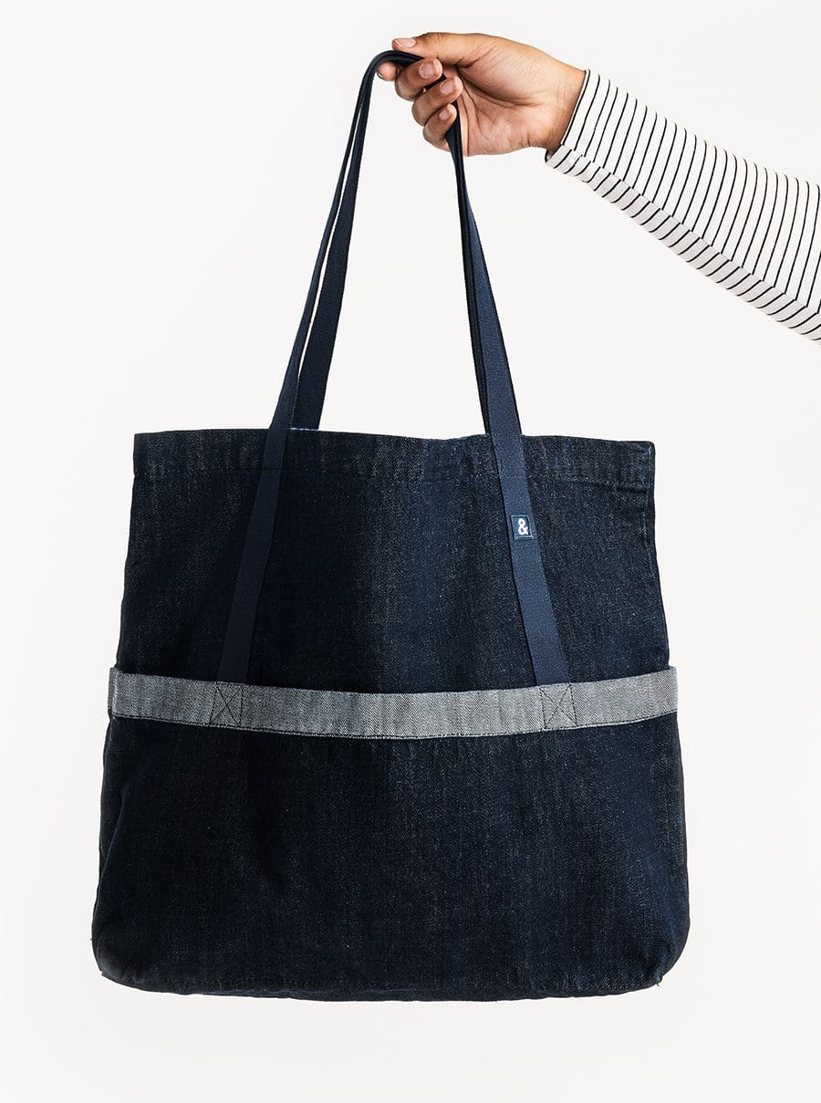 The Denim Tote - Dark Wash Denim