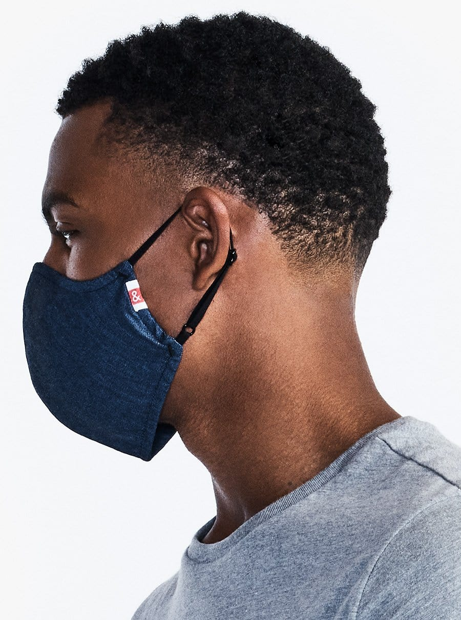 The Wake Up & Fight Mask - Dark Blue Chambray