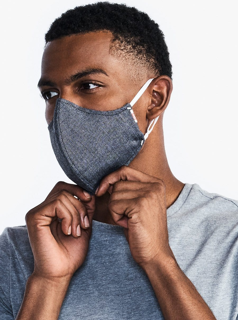 The Wake Up & Fight Mask - Gray Oxford