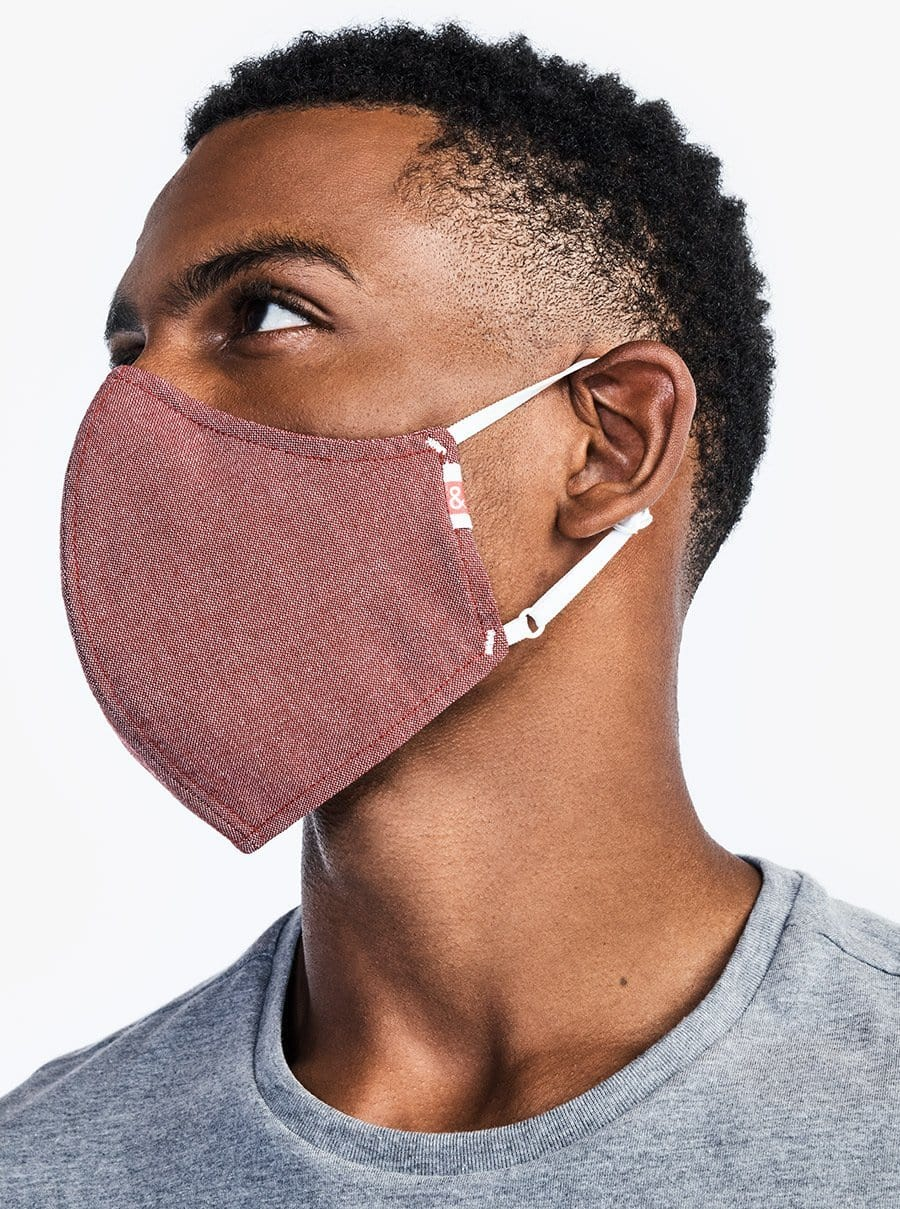 The Wake Up & Fight Mask - Red Oxford