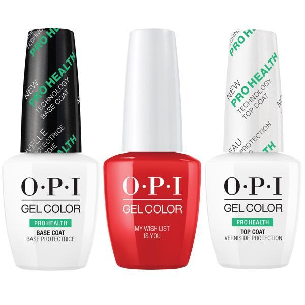 OPI GelColor Love Collection - My Wish List Is You + Base & Top Coat