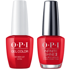 OPI GelColor My Wish List Is You #J10 + Infinite Shine #J49