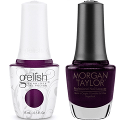 Harmony Gelish Plum-Thing Magical #1110275 + Morgan Taylor #3110275