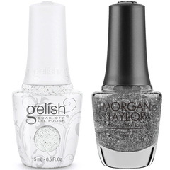 Harmony Gelish Silver In My Stocking #111029 + Morgan Taylor #3110279